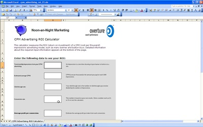 Cpm advertising roi template