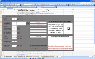 Cardiovascular Risk and Benefit Calculator Template