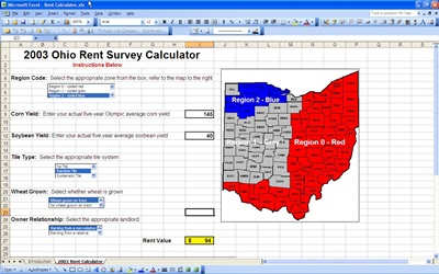 Farmland Rental Calculator Template