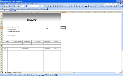 Excel Sales Invoice Template