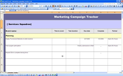 Marketing Campaign Tracker | Excel Templates