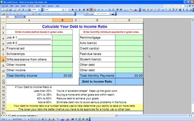 Debt to Income Calculator