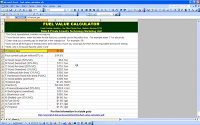 Fuel Value Calculator