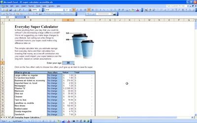 Life Pattern Saving Calculator Template