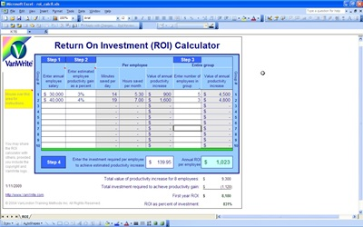 social return on investment excel templates autos post