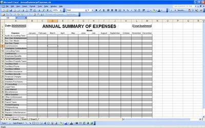 Annual expense budget template excel business budget for Annual household budget template