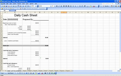daily cash sheet template excel .