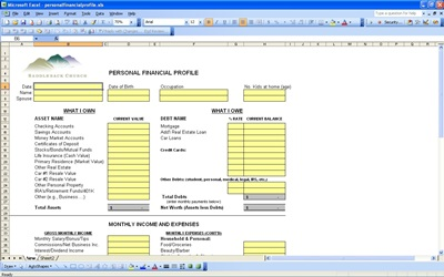 Personal Financial Profile