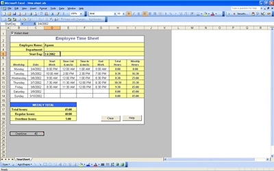 excel timesheet with overtime templates .