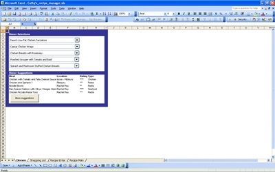 Recipe Manager | Excel Templates