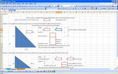 Pythagorean Theorem Calculator Excel Templates