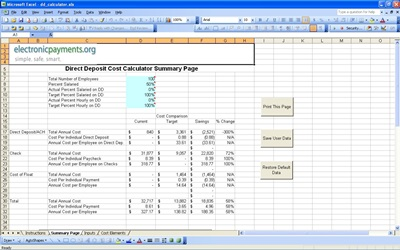 Direct Deposit Payroll Calculator