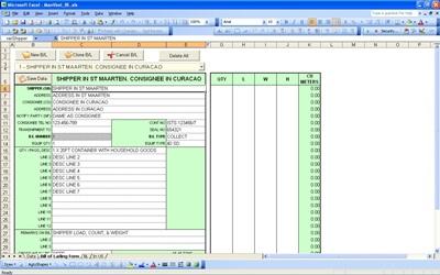 Printable bill of lading template DU AN ECH – Sample Bill of Lading Template
