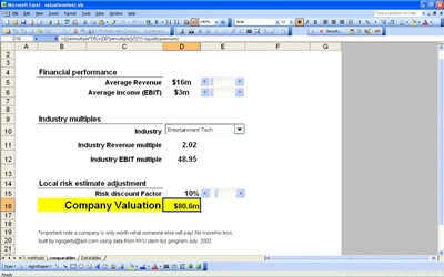 Company Valuation Calculator