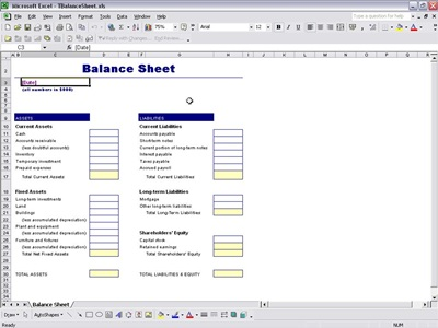 Balance Sheet Report Template