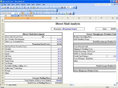 Break Even Point – Excel Break Even Analysis Template