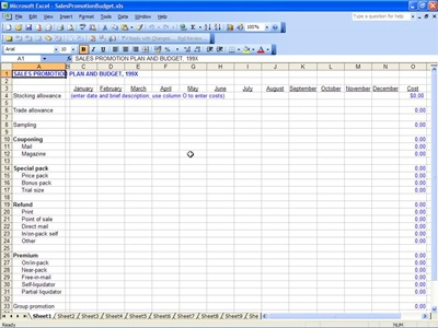 sle budget template excel 28 images marketing budget