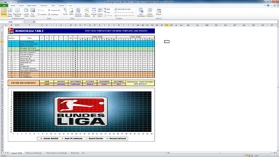 bundesliga fixtures template screenshot