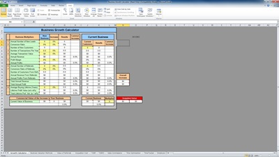 business growth calculator template