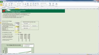 mortgage calculator excel spreadsheet template