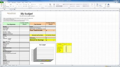 Personal Budget Excel Spreadsheet Template