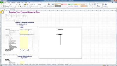 excel personal financial plan template