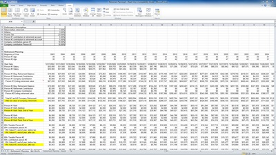 excel retirement planning template