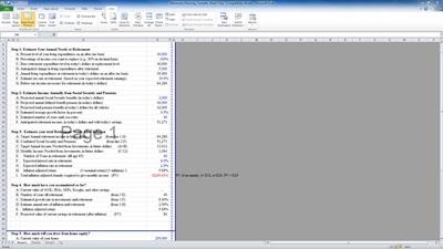 Excel Retirement Planning Template