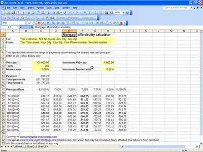 Mortgage Affordability Calculator | Mortgage Affordability Template