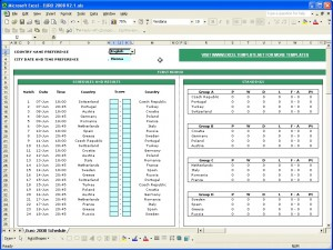 euro 2008 football match schedule and scoresheet