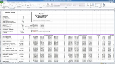 Excel Retirement Planner