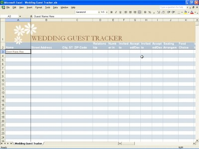Tag Archives Wedding Guest Excel Spreadsheet