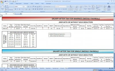 2009 Income Tax Calculator
