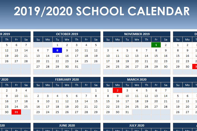 Academic Year Calendar 2019/2020