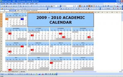 Academic Year Calendar 2009/2010
