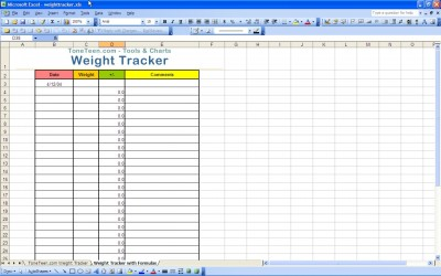 weight loss tracker - Excel Templates