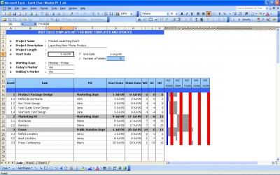 Gantt Chart Excel
