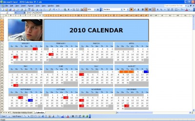 Excel Calendar 2010