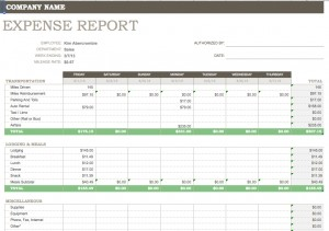 Expense Report Template | Excel Expense Report Template