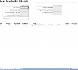 Monthly Amortization Schedule