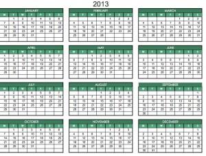 Printable 2013 Calendar PDF