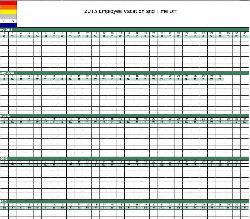 Excel Vacation Calendar Printable,Vacation.Printable Coloring