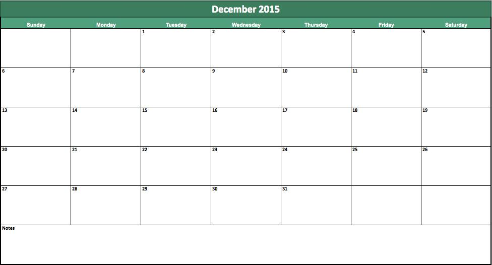 free 2015 monthly calendar