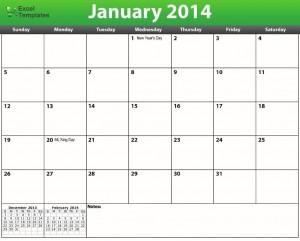Printable PDF 2014 Calendar