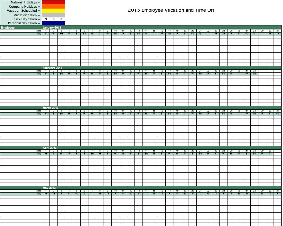free absence tracking excel template