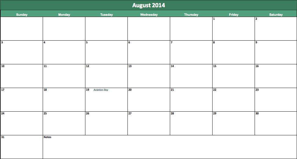 august 2014 calendar download