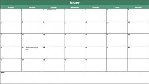 free annual calendar template