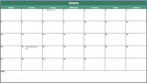 free calendar maker template