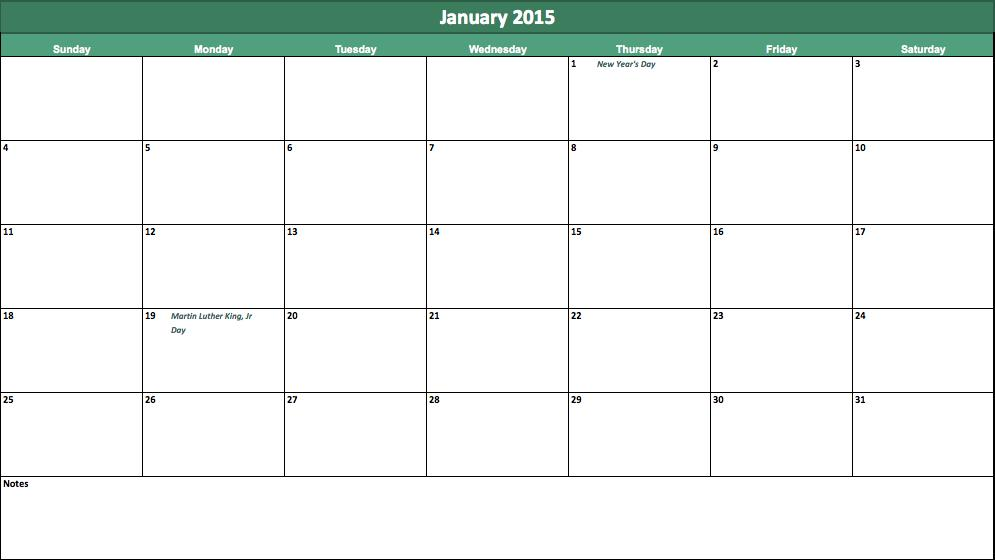 Blank Calendar With Room To Write : Calendar printable room to write autos post