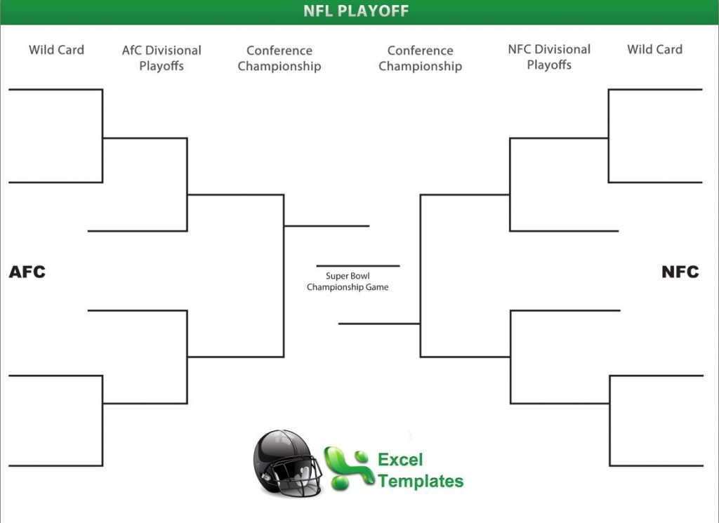 Nfl playoff brackets for Game bracket template